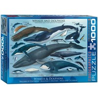 """Eurographics (6000-0082) - """"Whales & Dolphins"""" - 1000 pieces puzzle"""