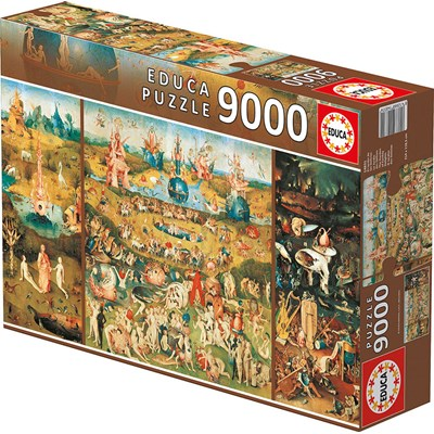 """Educa (14831) - Jerome Bosch: """"The Garden of Earthly Delights"""" - 9000 pieces puzzle"""
