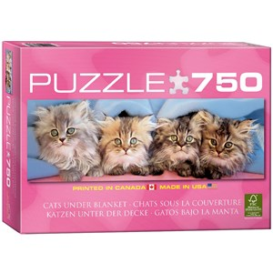 """Eurographics (6005-4678) - Takino: """"Cats Under Blanket"""" - 750 pieces puzzle"""