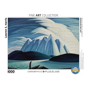 "Eurographics (6000-0924) - Lawren S. Harris: ""Lake and Mountains"" - 1000 pieces puzzle"