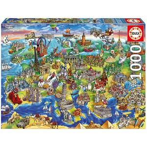 "Educa (16752) - Maria Rabinsky: ""European World"" - 1000 pieces puzzle"