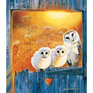 """SunsOut (36994) - Pollyanna Pickering: """"Owls in the Window"""" - 550 pieces puzzle"""