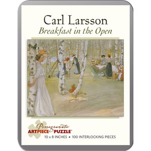 """Pomegranate (AA796) - Carl Larsson: """"Breakfast in the Open"""" - 100 pieces puzzle"""