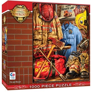 """MasterPieces (71511) - Dona Gelsinger: """"Fire and Rescue"""" - 1000 pieces puzzle"""