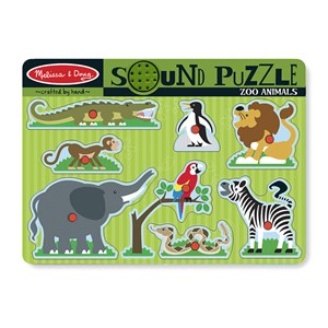 "Melissa and Doug (727) - ""Zoo Animals"" - 8 pieces puzzle"