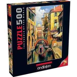 "Anatolian (3543) - Haixia Liu: ""Sunday in Venice"" - 500 pieces puzzle"
