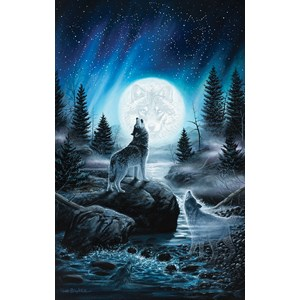 """SunsOut (55119) - Chuck Black: """"Call of the Pack"""" - 550 pieces puzzle"""