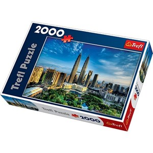 "Trefl (270754) - David Cheong: ""Petronas Twin Towers, Malaysia"" - 2000 pieces puzzle"