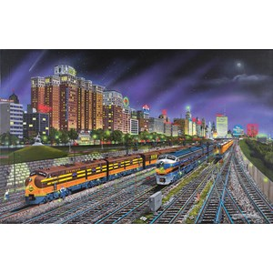 "SunsOut (21385) - Robert West: ""Chicago Nights"" - 1000 pieces puzzle"