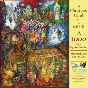 """SunsOut (21946) - Bill Bell: """"A Christmas Carol"""" - 1000 pieces puzzle"""