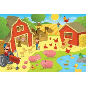 "Cobble Hill (58863) - ""Pig Pen"" - 35 pieces puzzle"