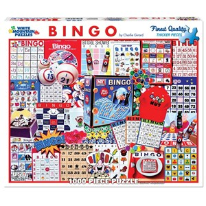 """White Mountain (1087PZ) - Charlie Girard: """"Bingo"""" - 1000 pieces puzzle"""