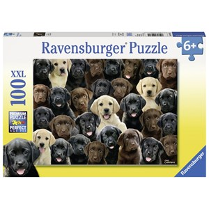 "Ravensburger (10971) - Greg Cuddiford: ""Labradors"" - 100 pieces puzzle"