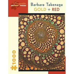 "Pomegranate (AA836) - Barbara Takenaga: ""Gold + Red"" - 1000 pieces puzzle"