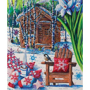 "SunsOut (14606) - Diane Phalen: ""Mountain Cabin Fever"" - 550 pieces puzzle"