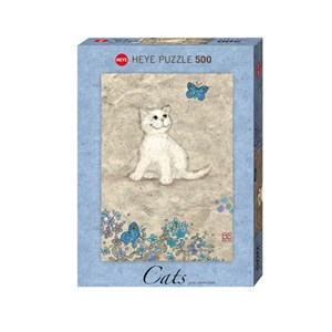 """Heye (29626) - Jane Crowther: """"White Kitty"""" - 500 pieces puzzle"""