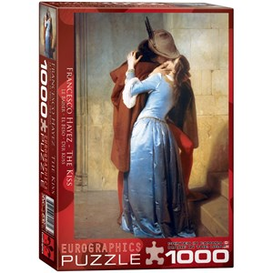"Eurographics (6000-0148) - Francesco Hayez: ""The Kiss"" - 1000 pieces puzzle"