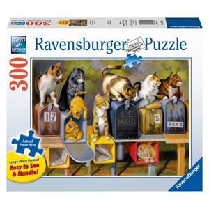 """Ravensburger (13562) - Bryan Moon: """"Cat's Got Mail"""" - 300 pieces puzzle"""