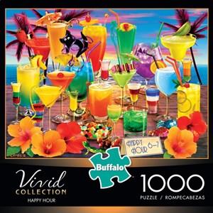"Buffalo Games (11705) - Royce B. McClure: ""Happy Hour"" - 1000 pieces puzzle"