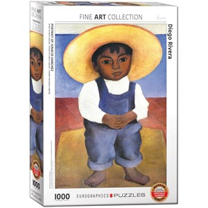 "Eurographics (6000-0799) - Diego Rivera: ""Portrait of Ignacio Sanchez"" - 1000 pieces puzzle"
