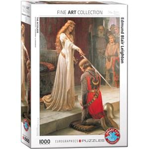 "Eurographics (6000-0038) - Edmund Blair Leighton: ""The Accolade"" - 1000 pieces puzzle"