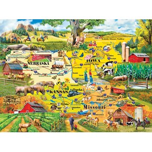 """SunsOut (58253) - Mary Thompson: """"The Heartland"""" - 1000 pieces puzzle"""