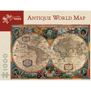 "Pomegranate (AA603) - Henricus Hondius: ""Antique World Map, 1630"" - 1000 pieces puzzle"