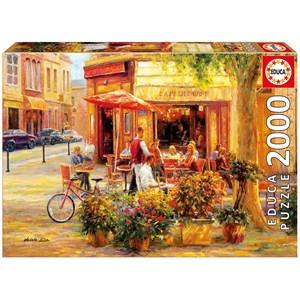 "Educa (17130) - Haixia Liu: ""Corner Café"" - 2000 pieces puzzle"