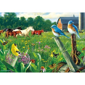 """Buffalo Games (2533) - Hautman Brothers: """"Country Meadow"""" - 300 pieces puzzle"""