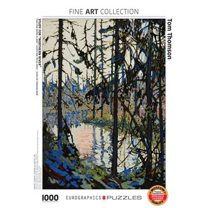 """Eurographics (6000-0922) - Tom Thomson: """"Study for Northern River"""" - 1000 pieces puzzle"""