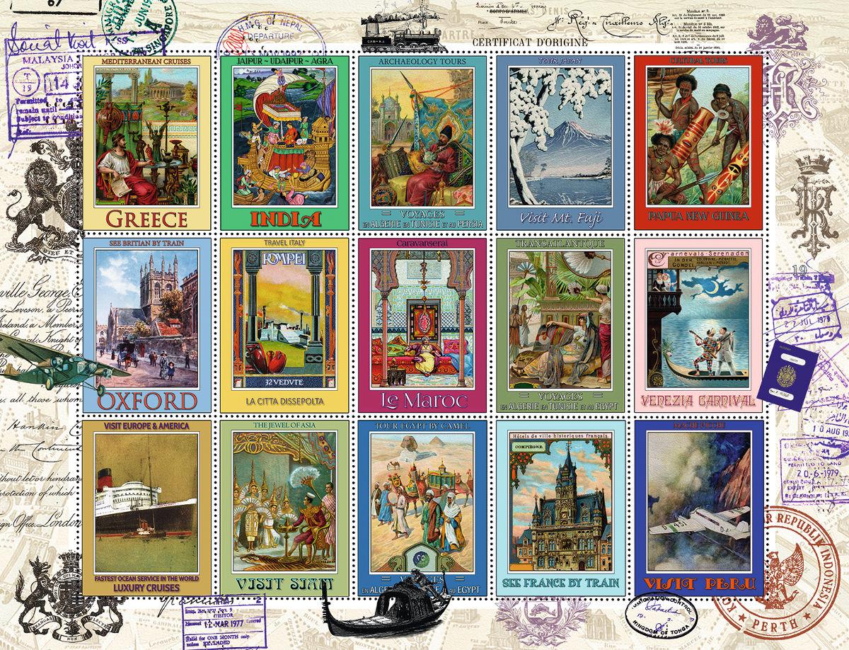 Disney Stamp Album 2000 Piece Jigsaw Puzzle