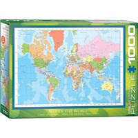 """Eurographics (6000-1271) - """"World Map"""" - 1000 pieces puzzle"""