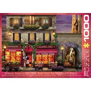 "Eurographics (6000-0963) - David McLean: ""The Red Hat Restaurant, Paris"" - 1000 pieces puzzle"