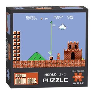 """USAopoly (PZ005-488) - """"Super Mario Bros. World 1-1"""" - 550 pieces puzzle"""