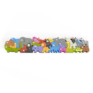 """Begin Again (I1305) - """"Jumbo Animal Parade A-Z Puzzle"""" - 26 pieces puzzle"""