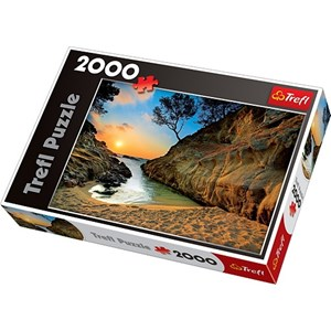 "Trefl (27048) - Jan Wlodarczyk: ""Sunrise Costa Brava, Spain"" - 2000 pieces puzzle"