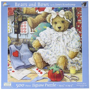 """SunsOut (76120) - Janet Kruskamp: """"Bears and Bows"""" - 500 pieces puzzle"""