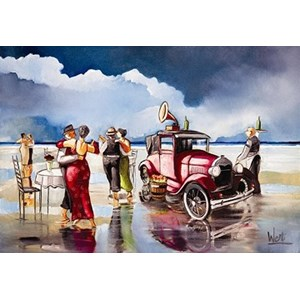 """Anatolian (PER3295) - Ronald West: """"Dancing on the Beach"""" - 260 pieces puzzle"""