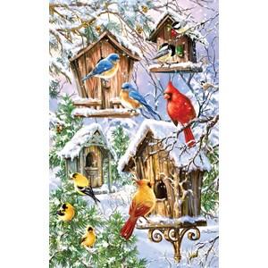 """SunsOut (57236) - Dona Gelsinger: """"Snow Birds"""" - 550 pieces puzzle"""