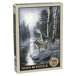 "Cobble Hill (51811) - James Meger: ""Wolves by Moonlight"" - 1000 pieces puzzle"