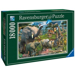 "Ravensburger (17823) - ""At the Waterhole"" - 18000 pieces puzzle"
