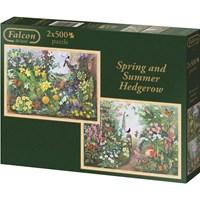 "Falcon (11104) - ""Spring & Summer Hedgerow"" - 500 pieces puzzle"