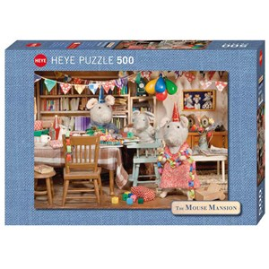 "Heye (29705) - Karina Schaapman: ""Mouse Mansion, Celebration"" - 500 pieces puzzle"
