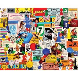 "White Mountain (1174PZ) - Charlie Girard: ""Game Pieces"" - 1000 pieces puzzle"