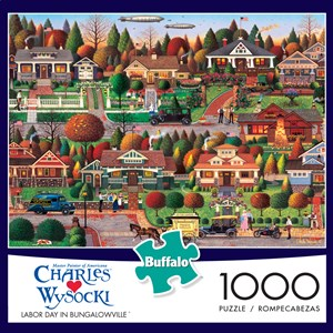 "Buffalo Games (11437) - Charles Wysocki: ""Labor Day in Bungalowville"" - 1000 pieces puzzle"