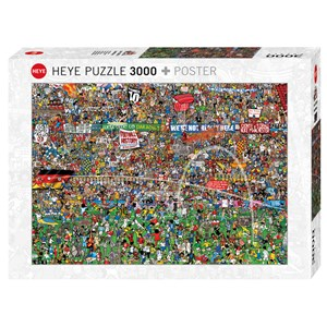 "Heye (29205) - Alex Bennett: ""Football History + Poster"" - 3000 pieces puzzle"