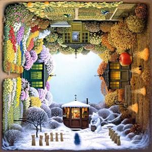 "Anatolian (PER1012) - Jacek Yerka: ""Four Seasons Garden"" - 1000 pieces puzzle"