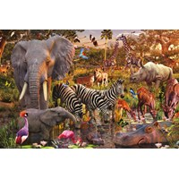 "Ravensburger (17037) - David Penfound: ""African Animal World"" - 3000 pieces puzzle"