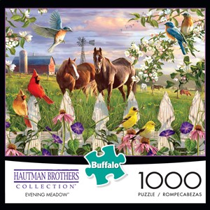 "Buffalo Games (11166) - Hautman Brothers: ""Evening Meadow"" - 1000 pieces puzzle"
