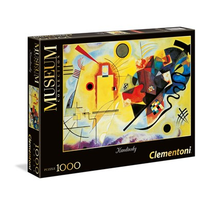 """Clementoni (39195) - Vassily Kandinsky: """"Yellow-Red-Blue"""" - 1000 pieces puzzle"""